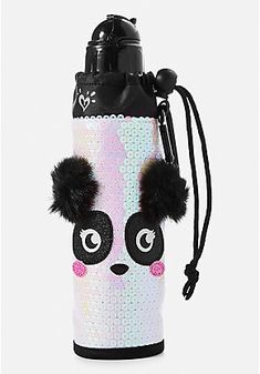 Our cute water bottles for girls are extra-stylish & functional, too! Perfect for her practice, class, or travel - shop girls' water bottles from Justice today. Justice School Supplies, Cute School Supplies, Justice Accessories, Claire's Accessories, Justice Backpacks, Girl Backpacks, Panda Love, Cute Panda, Justice Store