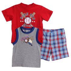 Baby Togs Toddler Boys 3 Piece Baseball Tank « Clothing Impulse