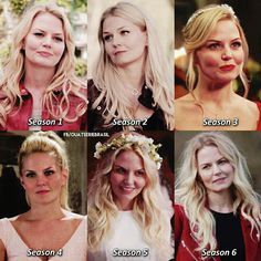 I love the parallel of how Emma is wearing red in the Pilot and the last episode and she has a very similar hairstyle! Once Upon A Time Funny, Once Up A Time, Camisa Do Star Wars, Movies Showing, Movies And Tv Shows, Robbie Kay Peter Pan, I Zombie, Captain Swan, Captain Hook