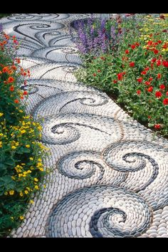 Wow! This pathway is a fabulous work of art! I wonder how long it took to create.