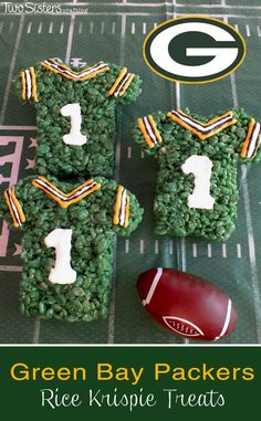 We're loving these Green Bay Packers Rice Krispie Treats! Perfect for gameday or a football fanatic birthday, customize these treats to support your favorite team!