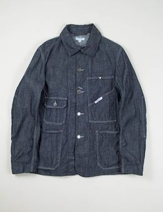 Engineered Garments Indigo 8oz Denim Railroader Jacket