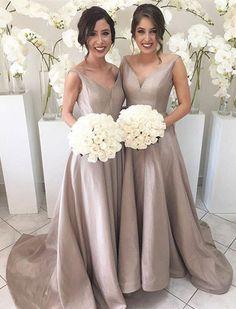 Modest Bridesmaid Prom Dress,Bodice Prom Dress,Custom Made Evening Dress,17192
