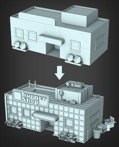 http://v3rtex.tumblr.com/ - rendering of Earthbound's Onett