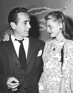 """"""" """"[It was] always in the wee small hours when it seemed to Bogie and me that the world was ours - that we were the world…"""" """" Actors Lauren Bacall and Humphrey Bogart Golden Age Of Hollywood, Hollywood Stars, Classic Hollywood, Old Hollywood, Hollywood Images, Hollywood Cinema, Hollywood Icons, Humphrey Bogart, Lauren Bacall"""