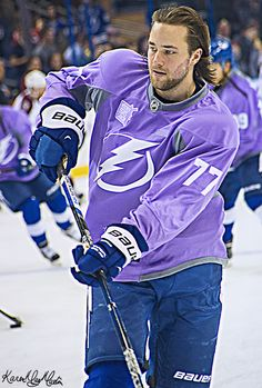 Victor Hedman Tampa Bay Lightning Hockey Fights Cancer Night