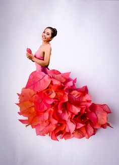 flower skirt made from brougainvillea!