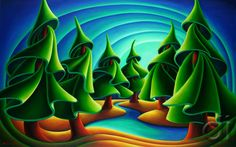 Tuning In, Dana Irving, Oil On canvas, 2012 Posted by /u/Reporter_at_large to /r/art Irving Oil, Emily Carr Paintings, Art And Craft Design, Art Deco Posters, Naive Art, Landscape Art, Great Artists, Amazing Art, Oil On Canvas