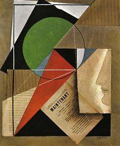 Arthur Cravan (1887-1918) Gino Severini, Portrait Arthur Cravan, Peinture Collage, Paris, 1912