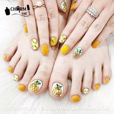 Pin by Manzil Na Kar Qabool on Nail Art in 2019 Toe Nail Art, Toe Nails, Acrylic Nails, Fruit Nail Designs, Pink Nail Designs, Korean Nail Art, Korean Nails, Watermelon Nails, Manicure Y Pedicure