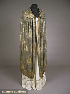 Augusta Auctions, May 2007 Vintage Clothing & Textile Auction, Lot 566: Deco Liberty Lame Opera Cape, 1920s