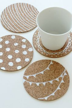 25 Wonderful Coaster DIY. This could be a cute fun idea!