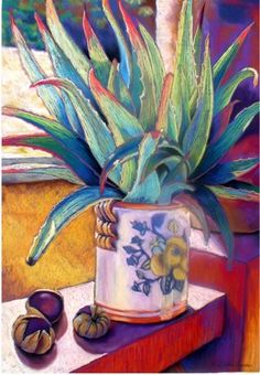 """Guanajuato Clay"" pastel painting by Henlen Shafer Garcia"