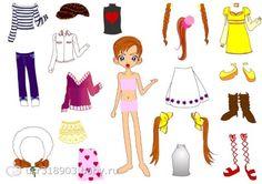 Разнообразие бумажных кукол