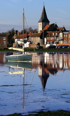 ~Chichester Harbour, Bosham, England. Bosham Church is the only church depicted on the Bayeux Tapestry~