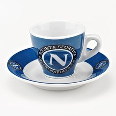 Club Napoli Espresso Cups--set of 6 cups and saucers