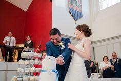 London themed wedding. Cupcake tower