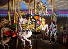 EL CARRUSEL - Oleo sobre lienzo 70x50 cm. -                                              2014 - Juan Manuel Vargas Vega -                                             Basado en una foto original de Cory Disbrow (USA)