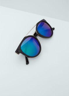 Sonnenbrille mit spiegelgläsern | MANGO