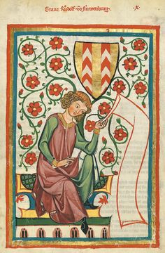 Codex Manesse, fol. 20r, 1305-1340, Zürich.