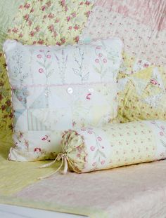Crabapple Hill 213 French Cottage Garden Pillows by agardenofroses, $8.00