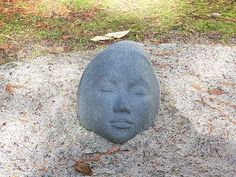 Bellingham, WA rock garden... now I know what I'm gonna do with my 2 face rocks I have!