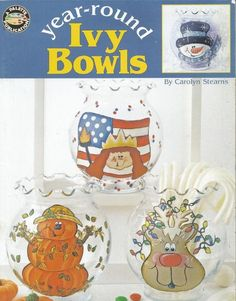 Do you like to paint on glass.  Check out this cute book for painting inexpensive ivy bowls.