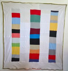 Queen Size Patchwork Bars Quilt. $195.00, via Etsy.
