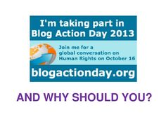 Discussion about Human Rights issues should not stop after Blog Action Day, right?