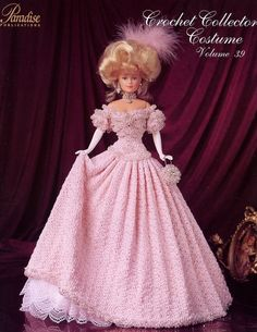 Image detail for -... Court Presentation Gown Paradise 39 Barbie Crochet PATTERN Leaflet NEW