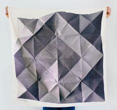 Folded Paper Furoshiki Black.  Furoshiki Japanese multi wrapping cloth and scarf.. $48.00, via Etsy.
