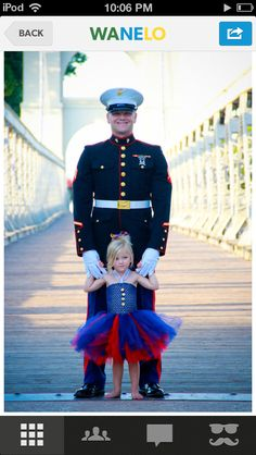 Marine dad and daughter