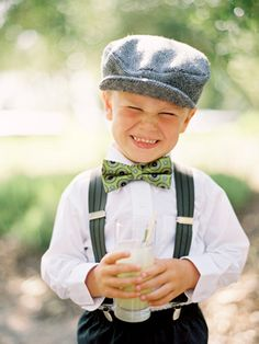 ring bearer with bow tie (Jose Villa)