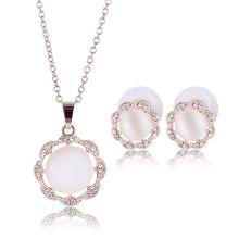 Women Resin Decorations Necklace Stud Earrings Rose Jewelry Set //FREE Shipping Worldwide //