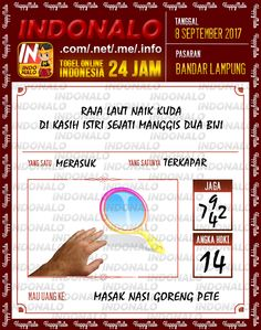Sah 4D Togel Wap Online Indonalo Bandar Lampung 8 September 2017