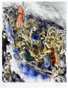 Marc Chagall, Moses Striking Water from the Rock   by Haggerty Museum