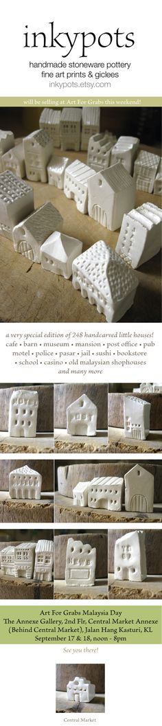 little houses  VAVO GIFT ASK TEACHER IF CAN PAINT WITH ACRILICS