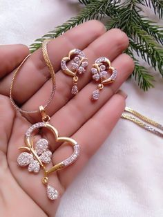 Buy Craftsvilla New Indian Bollywood Style Gold Plated Fashion Bridal Jewelry Necklace Set Online Gold Earrings Designs, Gold Jewellery Design, Gold Jewelry, Jewelery, Gold Costume Jewelry, Diamond Jewellery, Pendant Jewelry, Jewelry Necklaces, Bracelets