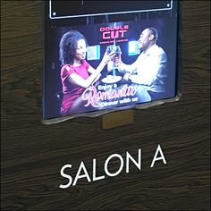 "Here, Kalahari Convention Center Salon ID is a cut above both in terms of ""Salon"" designation and built-in digital display of its own. Directional Signage, Price Tickets, Head Start, Convention Centre, Map, Baseball Cards, Signs, Digital, Store"