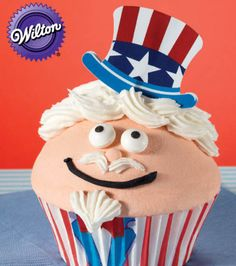 Uncle Sam Cupcake Recipe from Joann.com