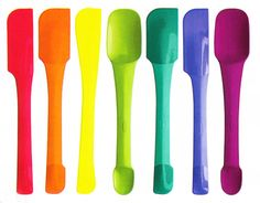 chef'n - they are some of my favorite kitchen products.  i love these because they are one piece and have dual functionality.  i don't like the spatulas that come apart - they are impossible to get clean.  i love the colors, too!