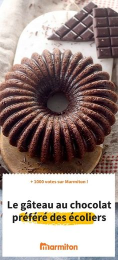 Chocolate cake of schoolchildren , This cake is part of the top recipes on Marmiton: a good chocolate cake favored by young and old , Best Chocolate Cake, Chocolate Lovers, Chocolate Desserts, Top Recipes, Dessert Recipes, Yummy World, Ice Cream Candy, Bunt Cakes, Beautiful Desserts