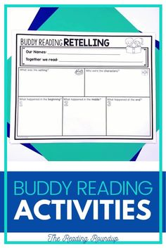 Is your Reading Buddies Program as effective as you'd like for it to be? These buddy reading bookmarks are guaranteed to lead to more student engagement. Elementary students can practice decoding unknown words, answering comprehension questions, making connections, and retelling stories with these bookmarks. Reading response sheets are also available for additional accountability. A must-have for your reading workshop! #thereadingroundup #literacycenters #readingbuddies Partner Reading, Small Group Reading, Reading Response, Student Reading, Kindergarten Reading, Reading Resources, Reading Activities, Summarizing Activities, Reading Bookmarks