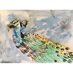 """""""Peacock"""" Watercolor Painting available at @chairishco"""