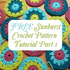 Free Sunburst Crochet Pattern Tutorial Part 1 with Lots of Photos