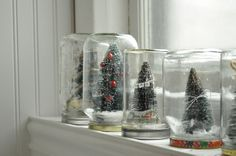 For any holiday...make a snow globe with the grandbabies.  Would love to use their hand print!