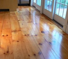 Wide plank pine floors...love!  I actually might like this myself.  Really scared of the real light floor however.