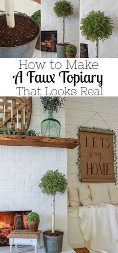 Check out this step by step tutorial on how to make a faux topiary that actually looks real. This is the perfect black for those with a black thumb. Vintage Farmhouse, Farmhouse Style, Farmhouse Decor, Country Farmhouse, Modern Farmhouse, Farmhouse Light Fixtures, Farmhouse Lighting, Handmade Home Decor, Diy Home Decor