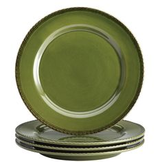 Start off memorable meals with a salad course served with the lovely BonJour Dinnerware Sierra Pine 4-Piece Stoneware Salad Plate Set. Crafted from durable stoneware and glazed in color inspired by nature, these inviting 8-inch salad plates boast...