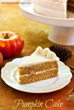 Vegan Pumpkin Cake and Fluffy Dairy-Free Macadamia Mallow Frosting - Dreena Burton Vegan Treats, Vegan Desserts, Just Desserts, Vegan Recipes, Vegan Blogs, Vegan Snacks, Vegan Dishes, Sweet Recipes, Whole Food Recipes